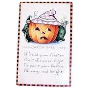 Whitney: Halloween Greetings Postcard - Marked