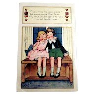 Whitney: If You Miss The Lace Paper Valentine Postcard - 1923