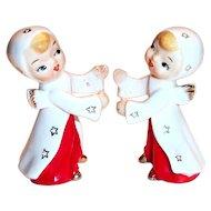 Little Porcelain Angel Candle Huggers/Holders - Japan