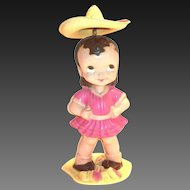 Wonderful Old Celluloid Wind-Up Twirly Hat Toy