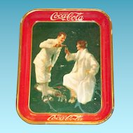 Advertising: Coca Cola 1926 Golfer Or Sports Serving Tray - Marked