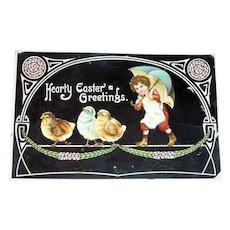 Hearty Easter Greetings Postcard - J.B. & Co.