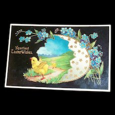 Heartiest Easter Wishes Postcard - Marked