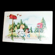"""Whitney:  """"All Easter Happiness To You"""" Postcard - Marked"""