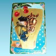Washington: His Kindness Patriotic Postcard - Marked