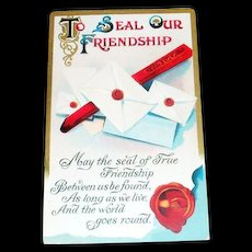 To Seal Our Friendship Postcard - Marked