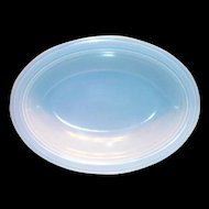 Vernonware: Modern California Azure Blue Oval Stone Ware Vegetable Serving Bowl - Marked