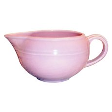 Vernonware: Modern California Orchid Pink Stoneware Gravy Boat - Marked