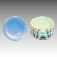 Vernonware: Modern California Stoneware Dessert Bowl - Marked