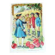 Washington: His First Command Patriotic Postcard - Marked
