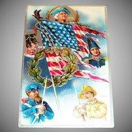Decoration Day Patriotic Postcard - Marked