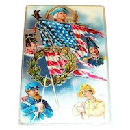 Decoration Day Patriotic Postcard - Marked