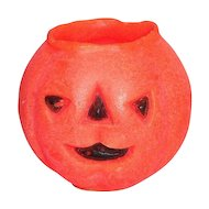 1950s Gurley Novelty Co.  Halloween Pumpkin/Jack O'Lantern Candle - Marked
