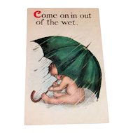 """B.S.: Children:  """"Come On In Out Of The Wet""""  Postcard"""