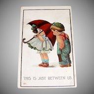 "Vintage Children: 1912 ""This Is Just Between Us"" Postcard"