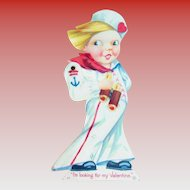 Stecher Litho. Co.: Mechanical Sailor:  I'm Looking For My Valentine - Marked