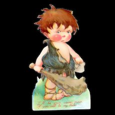 Vintage Cave Man Mechanical Valentine - Germany