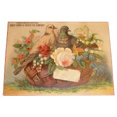 Great China & Pacific Tea Company Trade Card - Marked