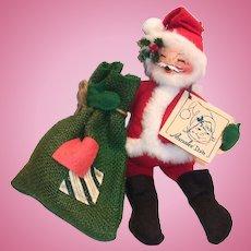 Annalee Santa Claus & Bag Doll