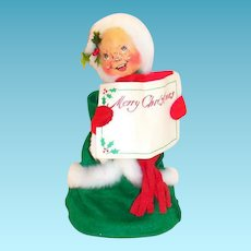 Annalee Mobilitee 1974 Mrs. Claus Merry Christmas Doll