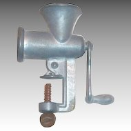 Toy Peerless Pewter 1940 Meat Grinder