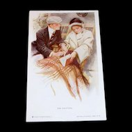 "Vintage ""The Proposal"" Postcard Signed By Artist Harrison Fisher"