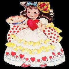 Children's Queen Of Hearts Nursery Rhyme Valentines Card