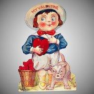 "Vintage ""My Valentine"" Buster Brown Style Mechanical Valentine"