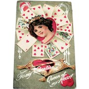 To My Valentine: Queen Of My Heart Postcard - 1911