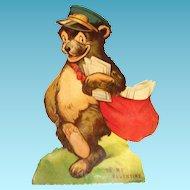 Vintage Postman Bear Mechanical Valentine