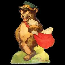 Vintage Postman Bear Mechanical Valentine