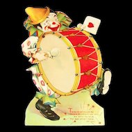 Vintage Ta-Ra-Ra-Doom-De-Ay Mechanical Clown Valentine