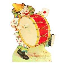 Vintage Ta-Ra-Ra-Doom-De-Ay Mechanical Clown Valentine