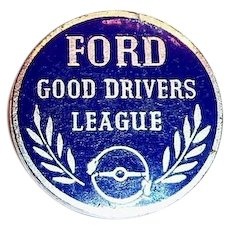 Ford Good Drivers League Award Pin - 1940's
