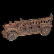 "Vintage 1920's Cast Iron 5""L Toy Fire Truck"