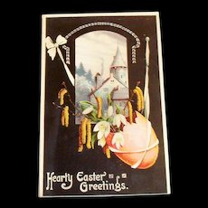 """Hearty Easter Greetings"" Vintage Postcard"