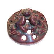 1920's Van Briggle Frog Design Pottery Flower Frog