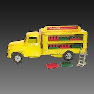 Buddy L 1950's Coca Cola Flat Top Yellow Delivery Truck