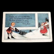 Whitney: Little Christmas Greeting Postcard