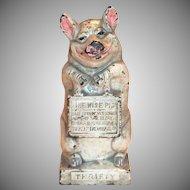 Thrifty Pig Cast Iron Bank