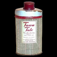 Tawn Talc Powder Tin - 1940's
