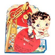 Vintage You're Getting A Rise Out Of Me Mechanical Valentine - 1945