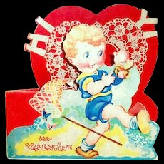 Vintage My Valentine Stand Up Card