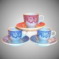 Shenango Restaurant Ware Blue Transfer Ware Demi Cup & Saucer Set