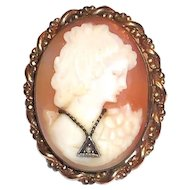 P.S. Co. 1/20 10 Kt GF Cameo Pin