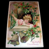 Vintage A Joyful Christmas Postcard