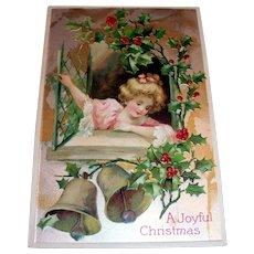 Vintage A Joyful Christmas Postcard