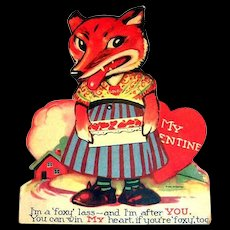 I'm A Foxy Lass Mechanical Valentine