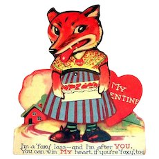 I'm A Foxy Lass Mechanical Valentine