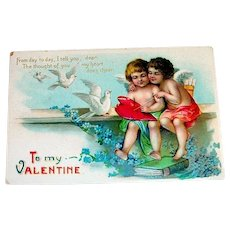 To My Valentine Postcard - 1910